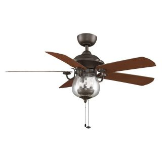 Fanimation Crestford 52 in. Outdoor Ceiling Fan with Light   Ceiling Fans
