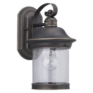Sea Gull Hermitage Outdoor Wall Lantern   13.5H in. Antique Bronze   Outdoor Wall Lights