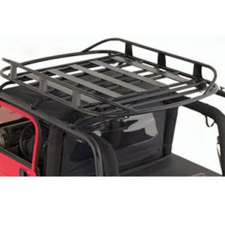 2001 2006 Jeep Wrangler (TJ) Roof Rack   Smittybilt, Direct fit, Textured black, Steel