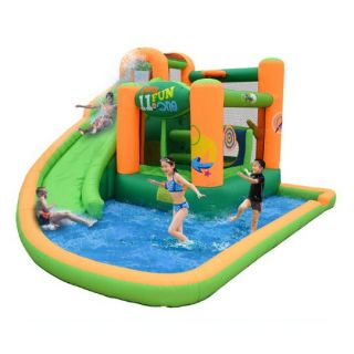 Kidwise Endless Fun 11 in 1 Inflatable Bounce House and Water Slide Combo   Bounce Houses