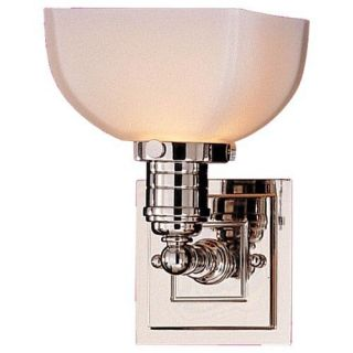 Murray Feiss Dorchester Bathroom Sconce   5.5W in. Polished Nickel   Single Sink Bathroom Vanities