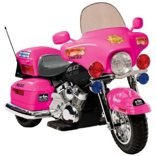 Kid Motorz Patrol H Police Battery Powered Riding Toy   Pink   Battery Powered Riding Toys