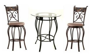 Boraam Beau 3 Piece Counter Height Pub Table Set   Pub Tables