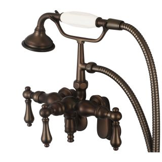 Water Creation Vintage Classic F6 0018 Wall Mount Tub Faucet with Hand Shower   Bathtub Faucets