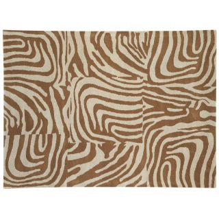 Dynamic Rugs Nolita Collection Handmade Wool Hearth Rug Beige/Natural Stripes   Hearth Rugs