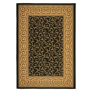 Safavieh Courtyard CY6014 Area Rug Black/Natural   Area Rugs