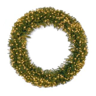 60 in. Norwood Fir Pre lit LED Wreath   Christmas Wreaths