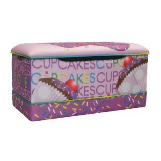 Newco Kids Cup Cake Collection Lavender Toy Box   Toy Storage
