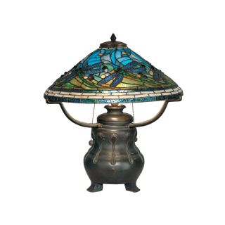 Dale Tiffany Dragonfly Replica Table Lamp   18.5W in.   Tiffany Table Lamps