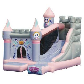 Kidwise Princess Enchanted Castle with Slide Bounce House   Bounce Houses