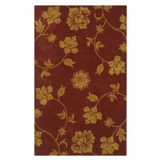 Noble House Floral Area Rug   Burgundy/Gold   Area Rugs