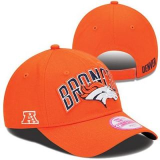 New Era Denver Broncos Ladies 2013 NFL Draft 9FORTY Adjustable Hat   Orange