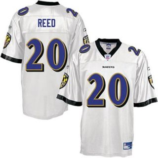 Reebok NFL Equipment Baltimore Ravens #20 Ed Reed White Replica Football Jersey