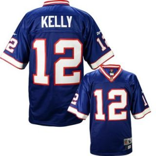 Reebok NFL Equipment Buffalo Bills #12 Jim Kelly Royal Blue Youth Tackle Twill Throwback Football Jersey