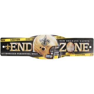 New Orleans Saints 4.5 x 17 Street Zone Sign