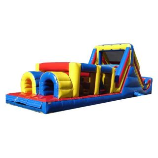Kidwise Backyard Obstacle Challenge Interactive Inflatable   Commercial Inflatables