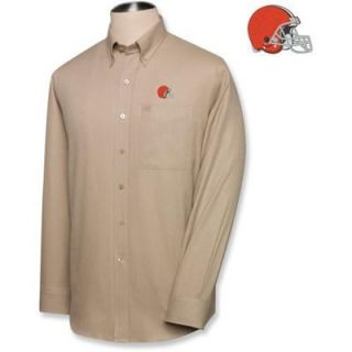 Cutter & Buck Cleveland Browns Mens Nailshead Long Sleeve Shirt