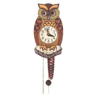Black Forest Owl 8 Inch Wall Clock   Wall Clocks