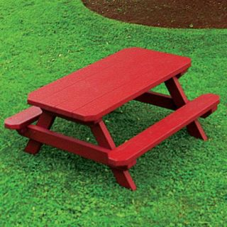 A & L Furniture Yellow Pine Kids Picnic Table   Kids Picnic Tables