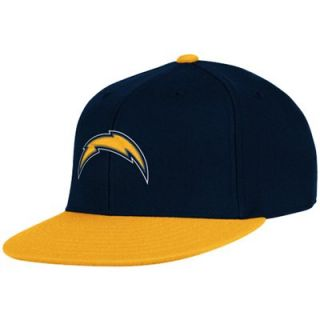Reebok San Diego Chargers Navy Blue Gold Down Field 210 Fitted Hat