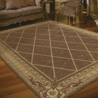 Nourison Ashton House Diamond Area Rug   Cocoa   Area Rugs
