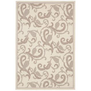 Couristan Recife Paisley Scroll Indoor/Outdoor Area Rug   White/Natural   Area Rugs