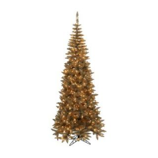 Antique Champagne Slim Fir Pre Lit Christmas Tree   Christmas Trees