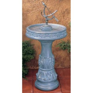 Equatorial Sundial Classic Bird Bath   Bird Baths