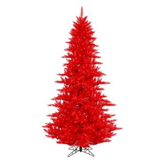 Vickerman Red Fir Pre lit Christmas Tree   Christmas Trees