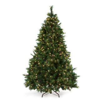 12 ft. Carolina Pine Full Pre lit Christmas Tree   Christmas