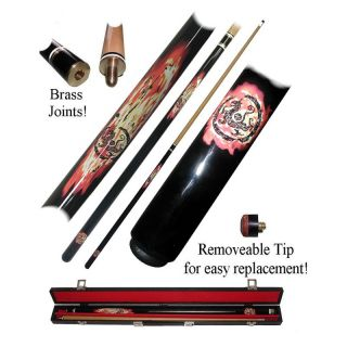 Dragon Inferno Billiard Pool Cue Stick with Case   Pool Cues
