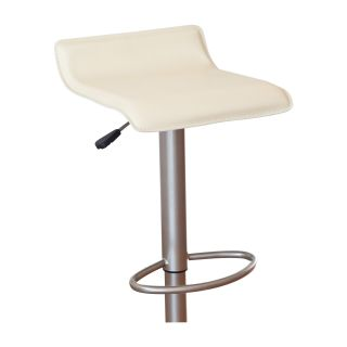 Winsome Wood Adjustable Single Backless Air Lift Swivel Bar Stool   Cream   Bar Stools