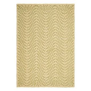 Martha Stewart by Safavieh,MSR3612B Chevron Leaves Area Rug   Oolong Tea Green   Area Rugs