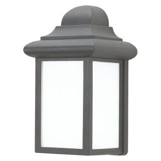 Sea Gull Mulberry Hill Outdoor Wall Lantern   9.25H in. White   ENERGY STAR   Outdoor Wall Lights
