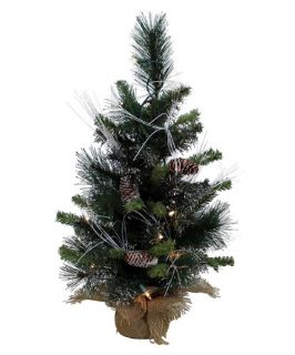 White Glittery Mix Pine Pre Lit Table Top Christmas Tree   Christmas Trees