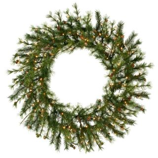 60 in. Mixed Country Pine Pre lit Christmas Wreath   Christmas Wreaths