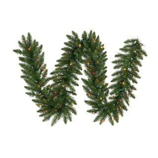 12 in. x 9 ft. Camdon Fir Multi Color Pre lit Garland   Christmas Garland