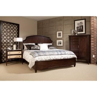 A.R.T. Furniture Intrigue Low Profile Panel Bed   Cola   Bedroom