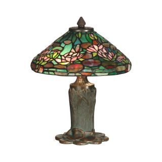 Dale Tiffany Floral Leaf Tiffany Table Lamp   Tiffany Table Lamps