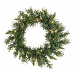 Vickerman Imperial Pine Pre Lit LED Wreath   Warm White Lights   Christmas Wreaths
