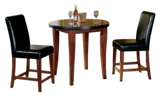 Steve Silver Montibello 3 Piece Granite Top Counter Height Pub/Dining Table Set   Pub Tables