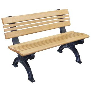 Cambridge 4 ft. Commercial Grade Armless Park Bench   Outdoor Benches