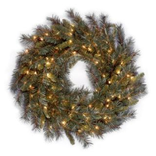Winchester Pine Pre Lit Wreath   Christmas Wreaths