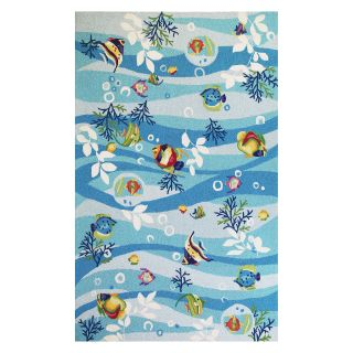 KAS Rugs Sonesta 2011 Tropical Fish Area Rug   Blue   Area Rugs