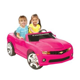 Kid Motorz Chevrolet Camaro Two Seater Battery Powered Riding Toy   Pink   Battery Powered Riding Toys