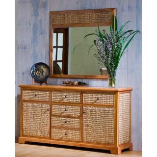 Hospitality Rattan Sea Breeze Indoor Buffet / Server   Natural   Dining Accent Furniture