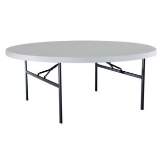 Lifetime 72 in. Round Commercial Folding Table   White   Banquet Tables