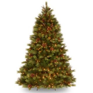 7.5 ft. Feel Real White Pine Hinged Pre Lit Christmas Tree   Clear Lights   Christmas Trees
