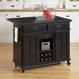 Home Styles Arts & Crafts Black Kitchen Cart   Kitchen Islands and Carts