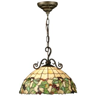 Dale Tiffany Grape Hanging Light   16W in. Bronze   Tiffany Ceiling Lighting